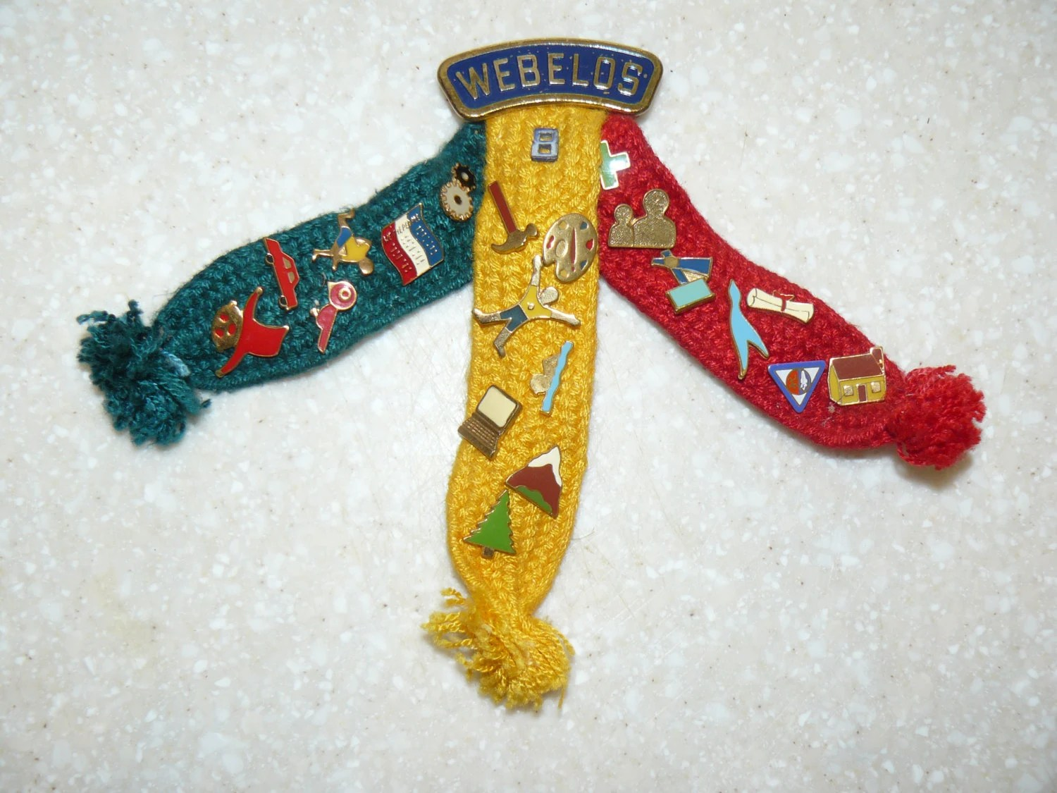 Webelos Ribbons And Badge Pins From The S 21 Brass