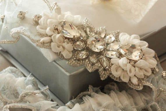 Heirloom Wedding Garter Set Soft Custom Colors By