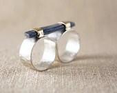 kyanite double ring - Asarum