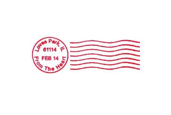 Valentines Day Postal Cancellation Postmark For Love Letters