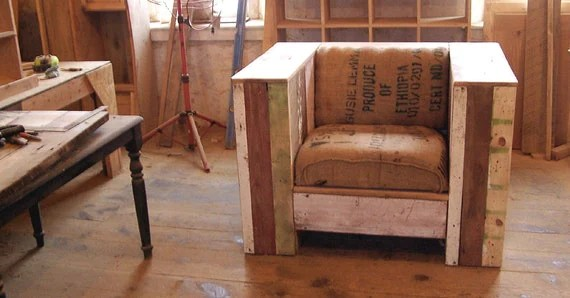 Items Similar To Urban Lounge Chair From Reclaimed Wood On