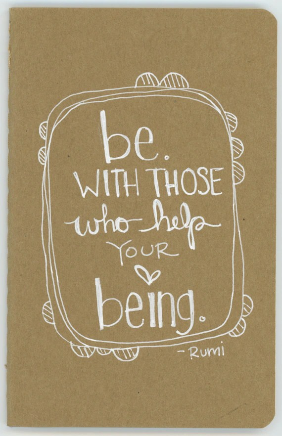 be. rumi.  a little pocket moleskine illustrated journal