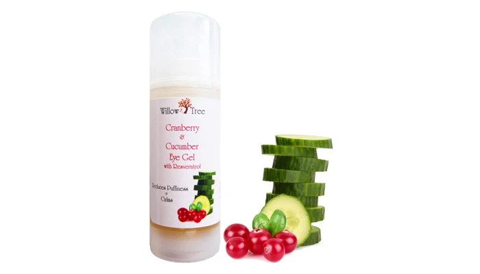 Cranberry & Cucumber Eye Gel with Resveratrol- 1 oz. Organic and Natural
