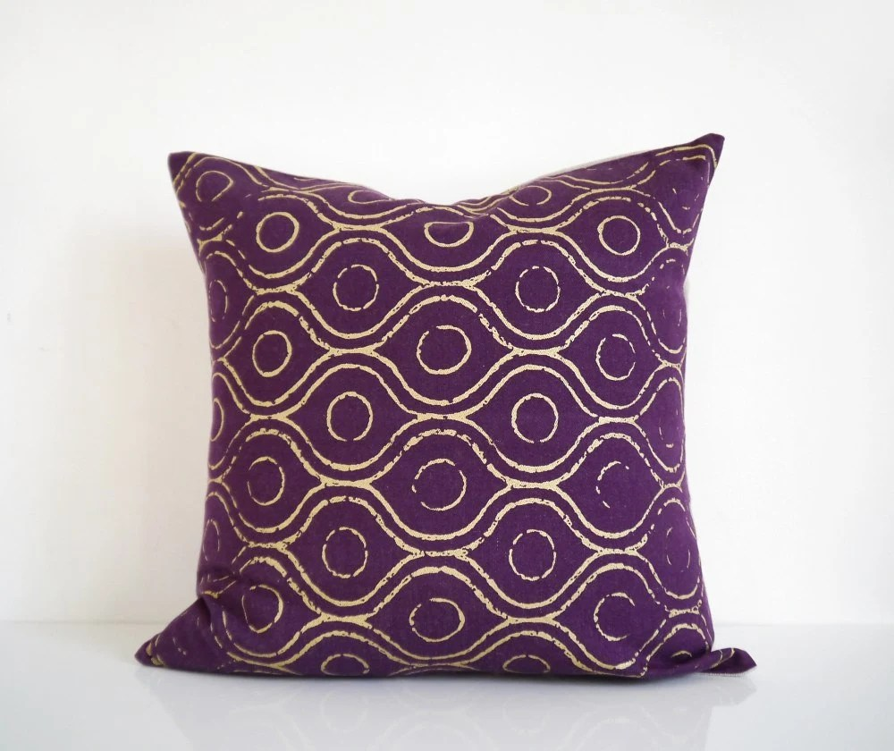 Purple Fabric And India Gold