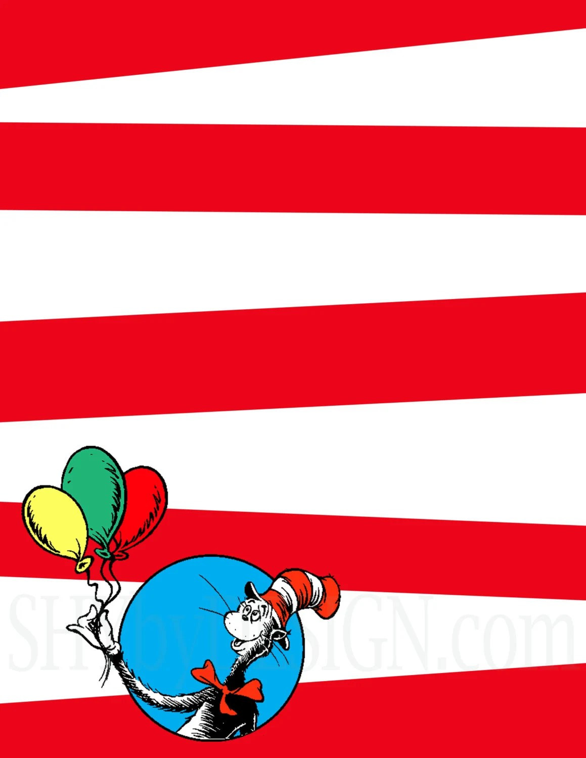 3 Diy Printable Dr Seuss Sign Templates By Shydesign On Etsy