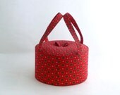 Vintage red sewing storage box - jewelry box - 80s - ArtmaVintage