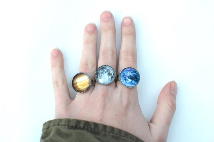 Planet Rings in Earth and Jupiter / More Coming Soon - glowwormshop