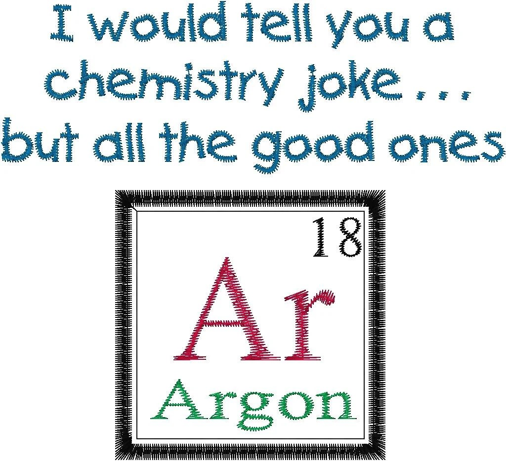 Periodic Table Joke Design Argon