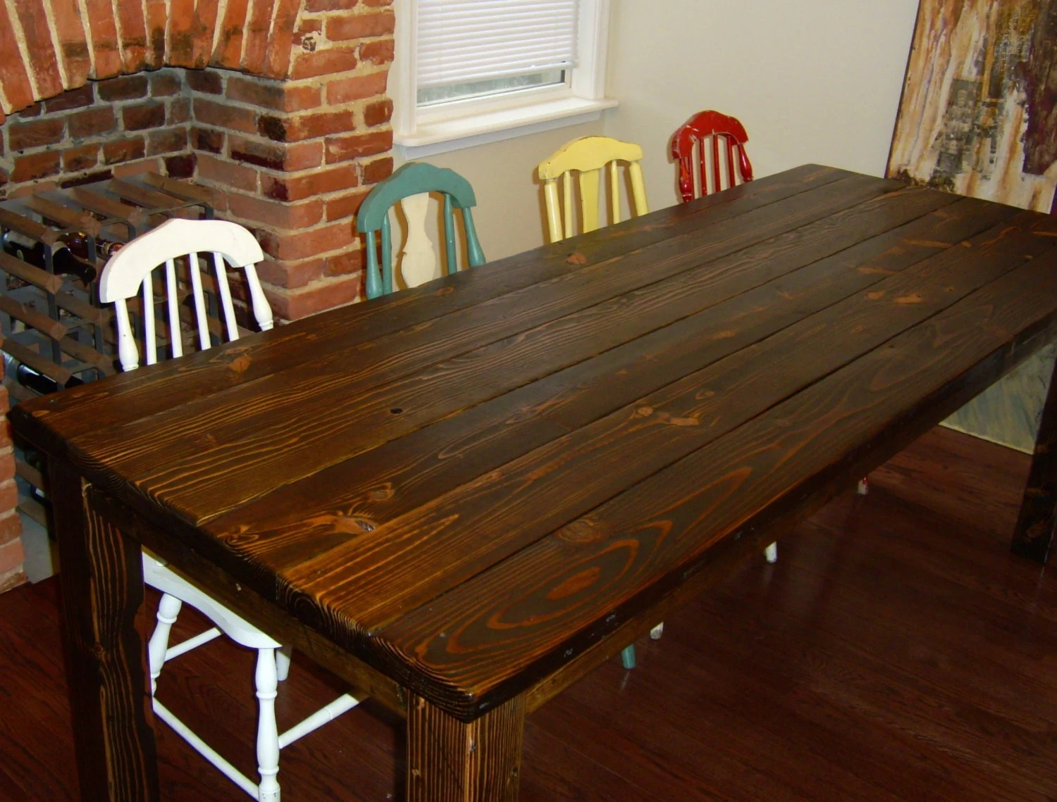 Dining Table Farmhouse Table Reclaimed Wood Table Kitchen