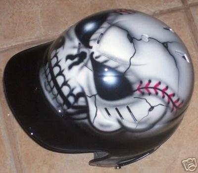 Air Brushed Baseball Helmets Boys