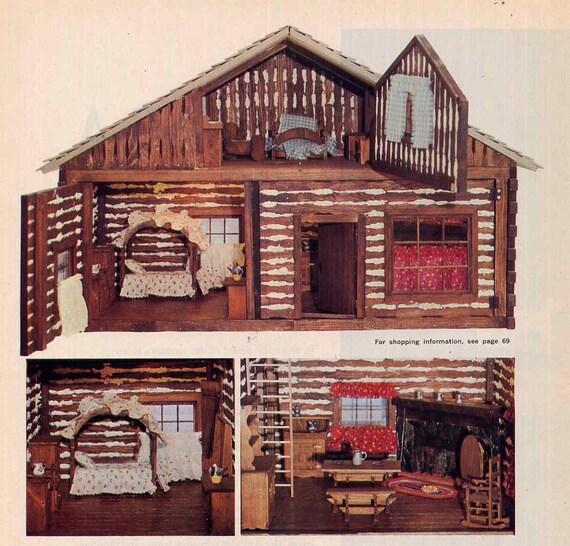 Vintage Log Cabin Dollhouse Plans Pioneer Homestead
