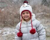 Crochet Snowman Hat - mycrochetgarden