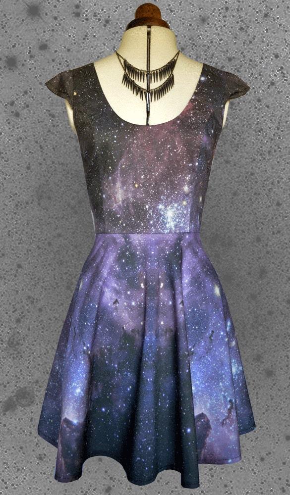Space print dress Womens galaxy star printCUSTOM FOR