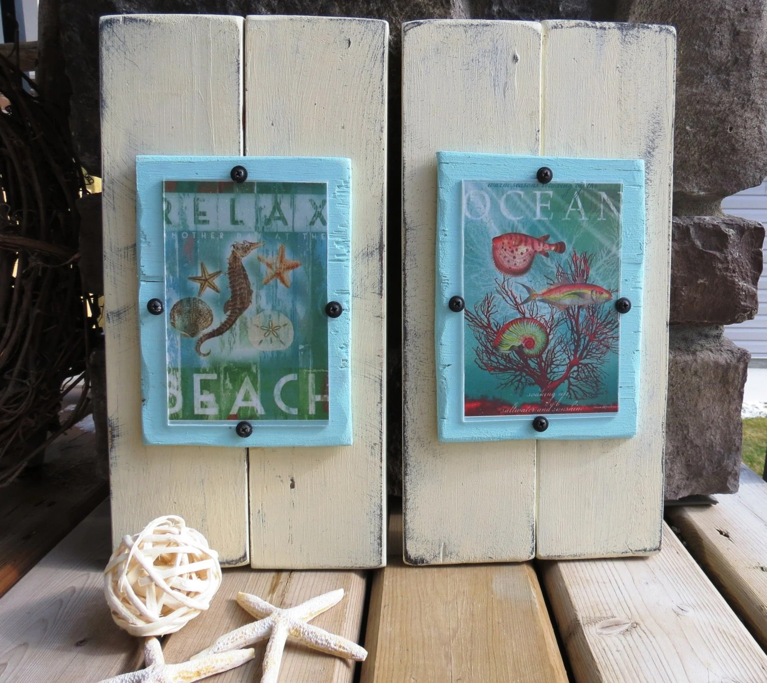 Old Worn Wooden Picture Frame Handmade