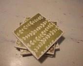 Green Vine Coasters - CraftsbyCinnamon