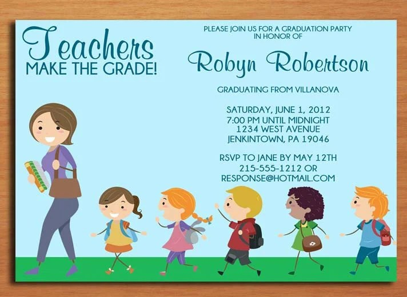 Teacher Elementary Education Degree Graduation Party