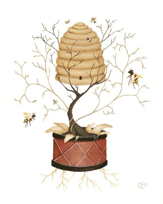 The Beehive print 8x10