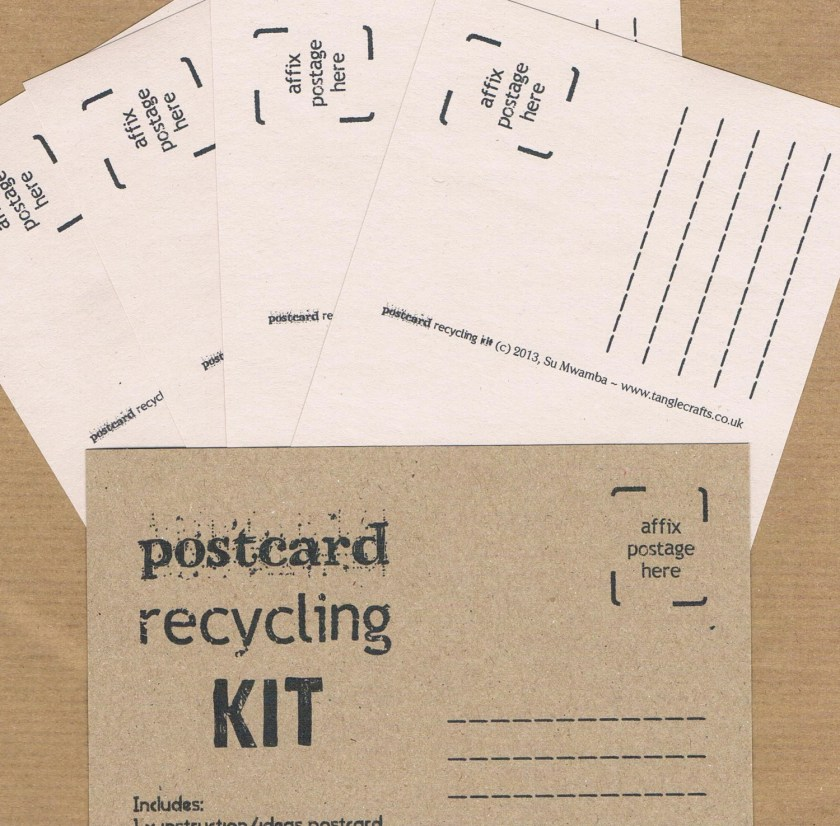 POSTCARD RECYCLING KIT Looseleaf zine & eco-friendly, upcycled mail art