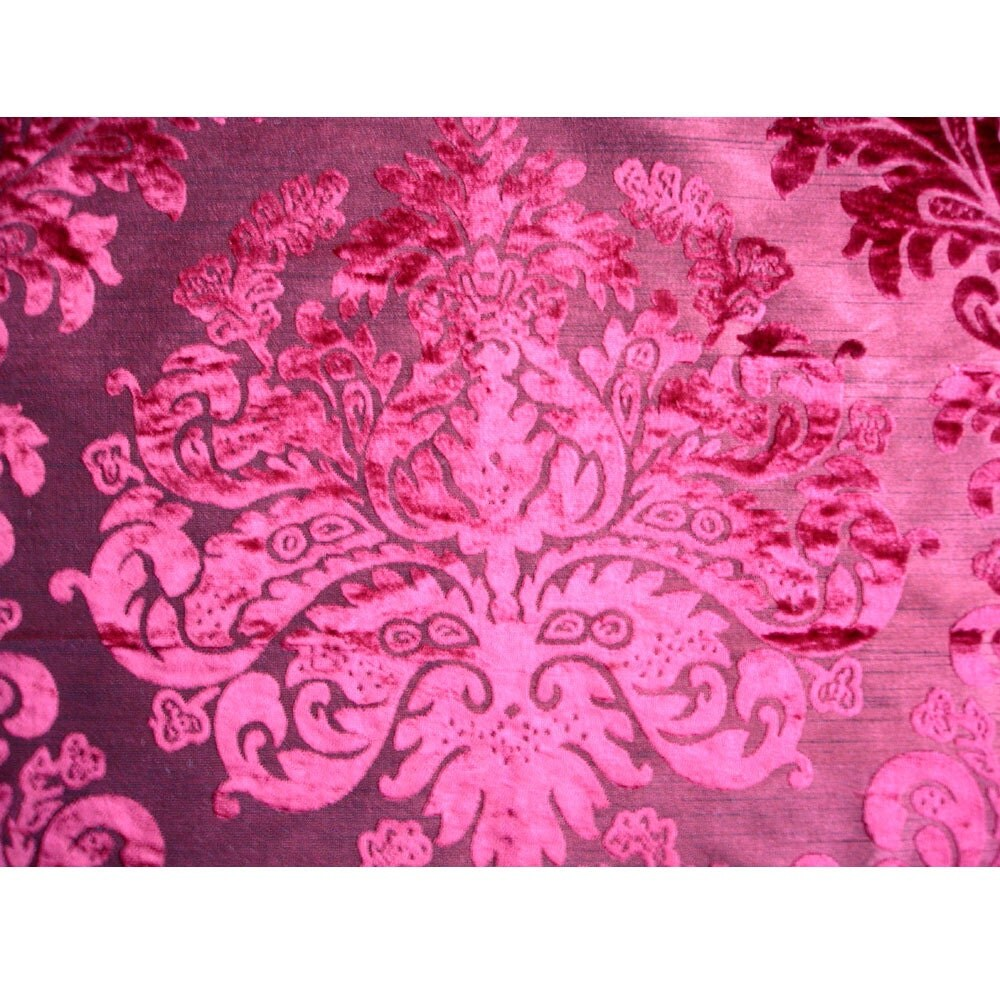 Fabric Upholstery Red Damask