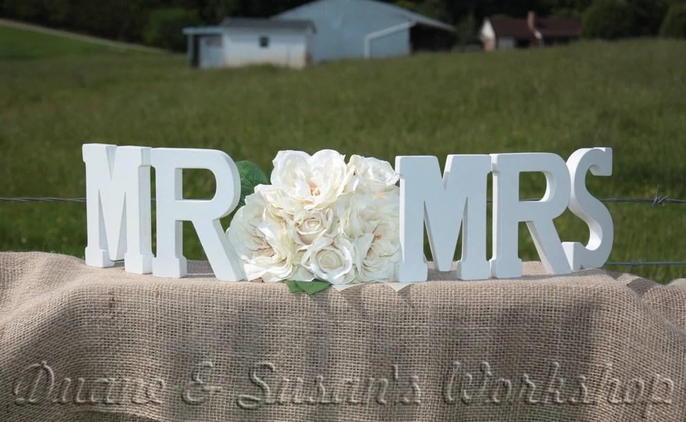 MR MRS Wooden Sign Sweetheart Table Wedding DIY Option