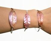 Leaf Bracelet - Copper Silver Bracelet - Mixed Metal Bangle - Forged Leaf - ONE Bracelet - Made to Order - PepaMoyano