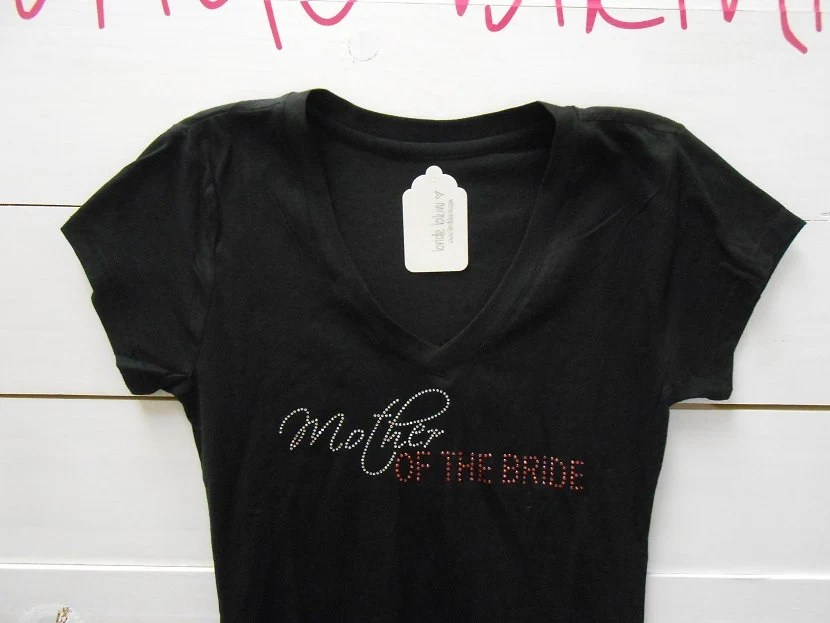 Mother Of The Bride T-Shirt Top. Mother Of The Groom