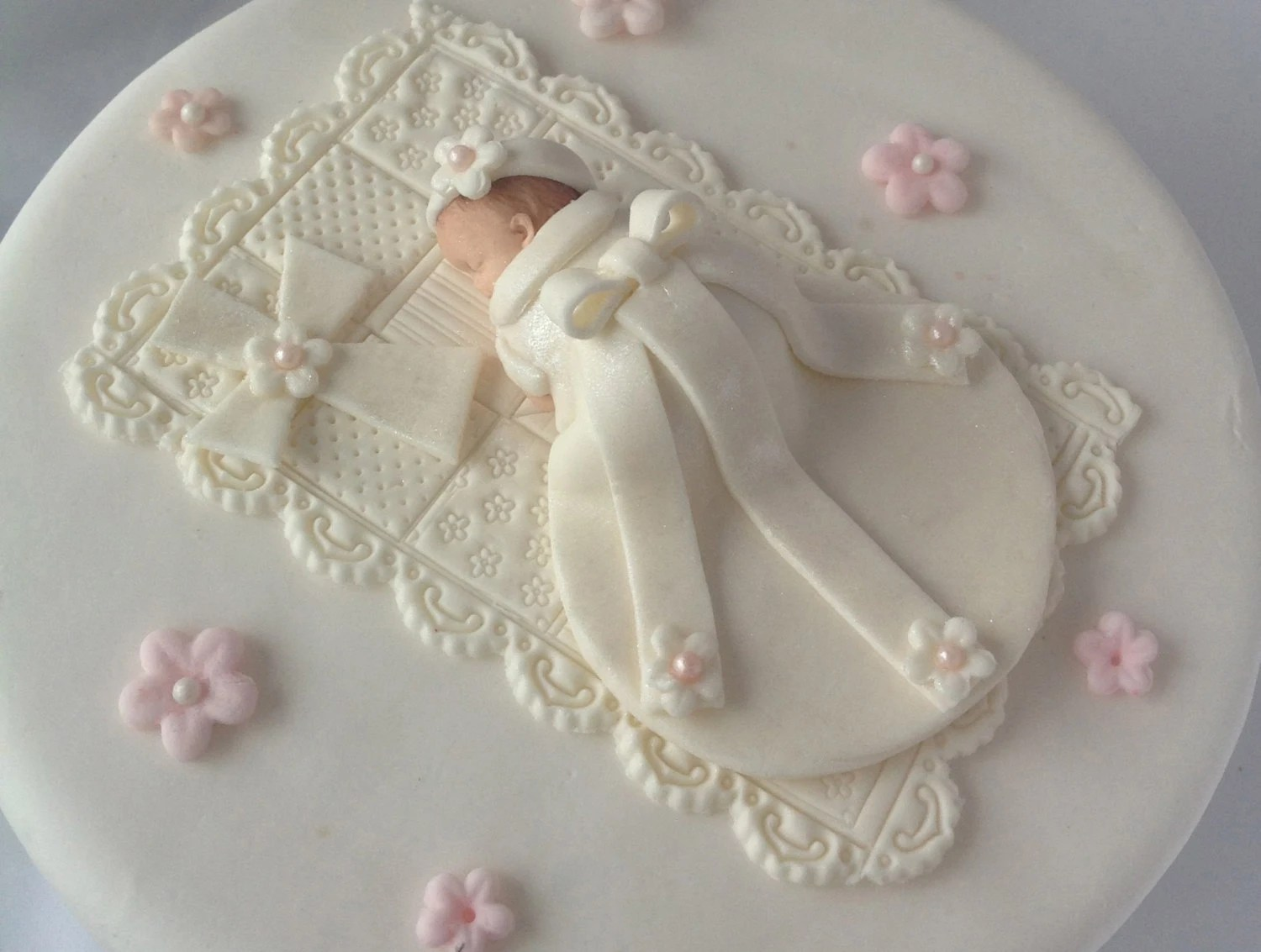 Baby Baptism Cake Toppers