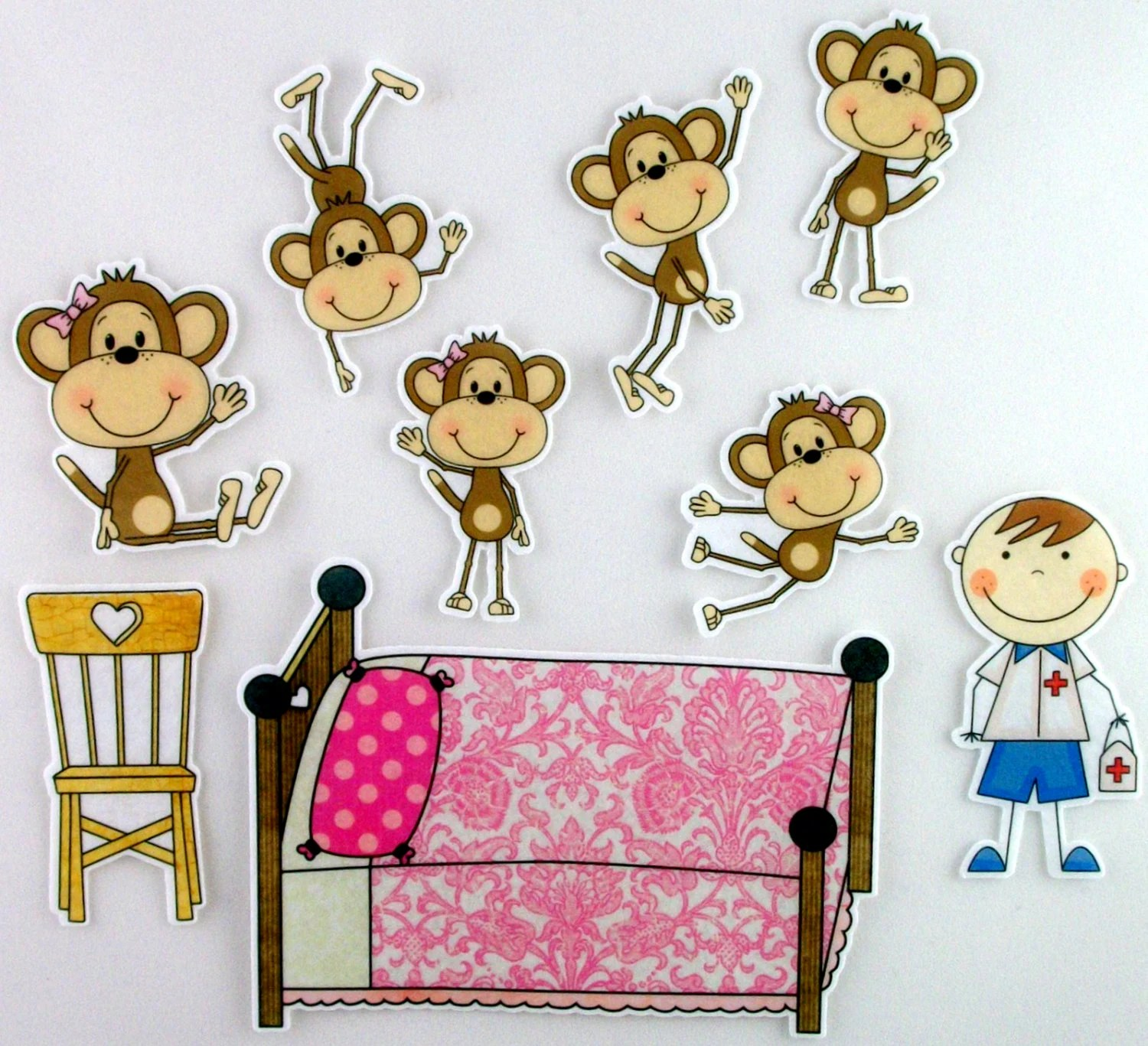 Five Little Monkeys Jumping On The Bed Felt Board By Bymaree
