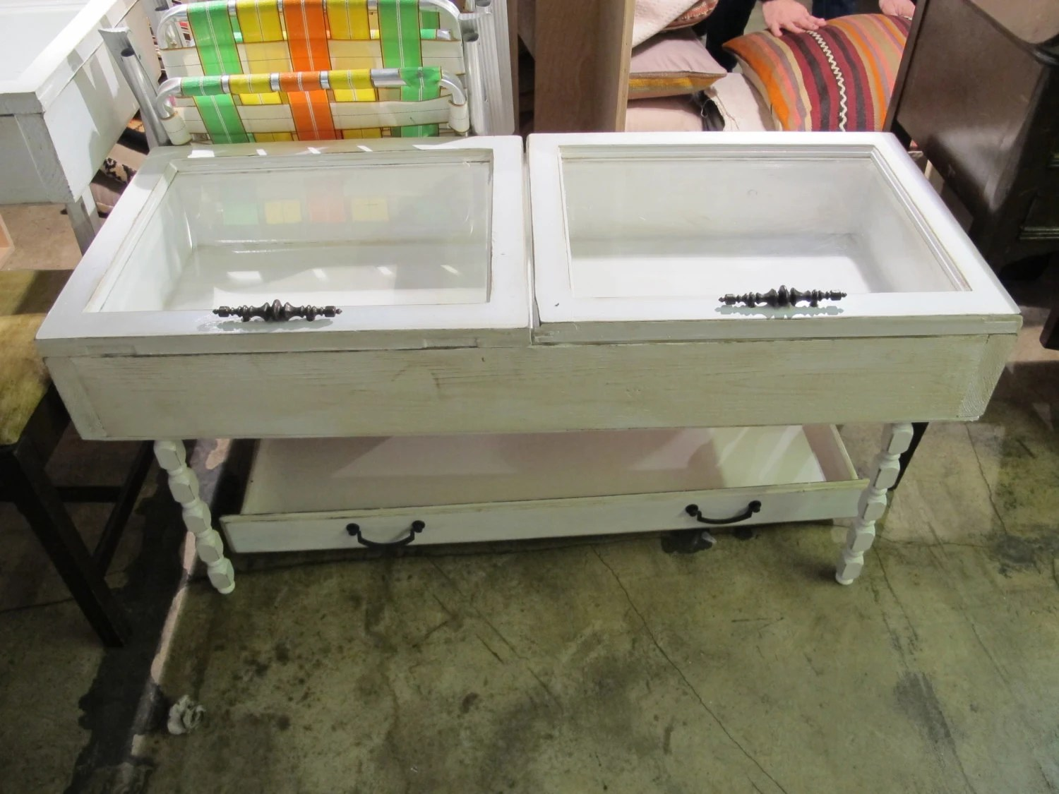 Items Similar To MOVING SALE!! Handmade White Antique