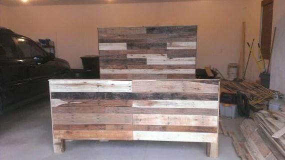 Items Similar To Made To Order Reclaimed Pallet Wood King