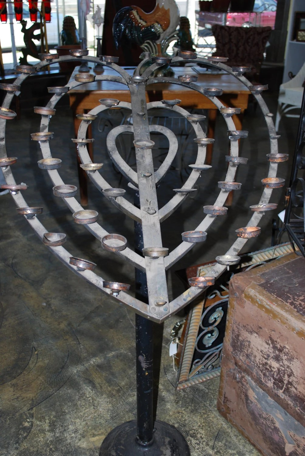 Vintage Wrought Iron Heart Candle Holder Wrought Iron Cottage on Antique Wrought Iron Wall Candle Holders id=20682