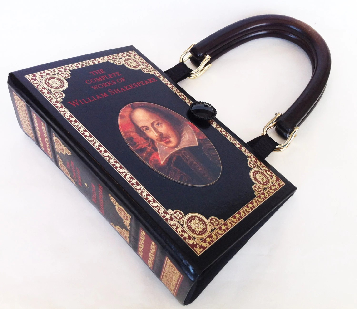 Shakespeare Book Purse William Shakespeare Recycled Leather