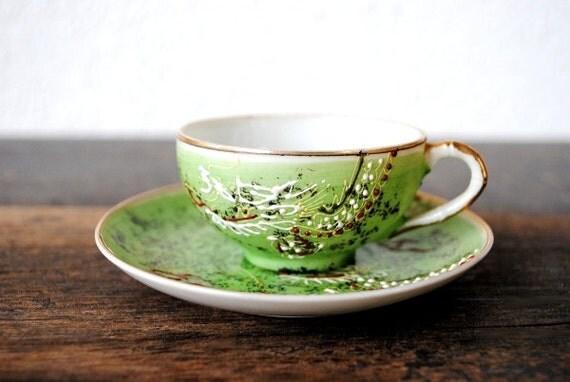 Miniature Made Teacup Trademarks Saucer Japan And