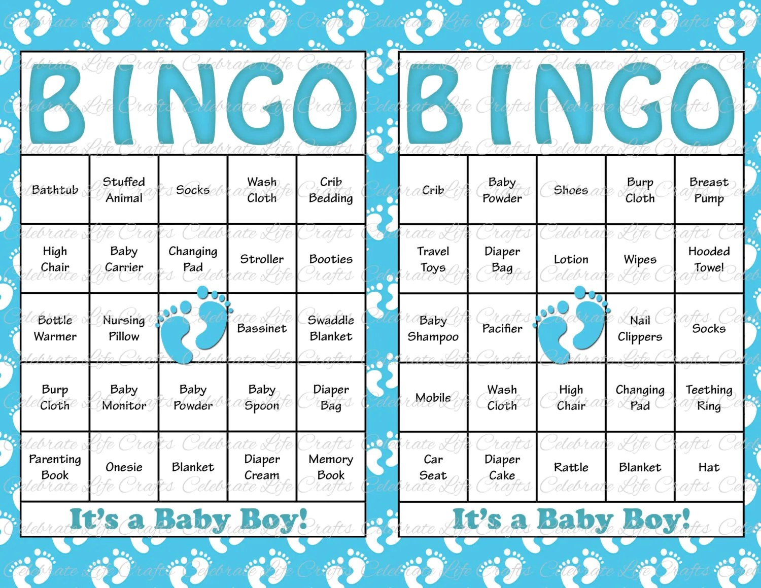 30 Baby Shower Bingo Cards Printable Party By Celebratelifecrafts