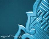 Digital Download Photography, Shrine Door - Japan Photo Abstract - Cyan - Anglachell