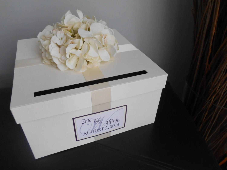 Items Similar To Custom Wedding Card Box Reception CardBox