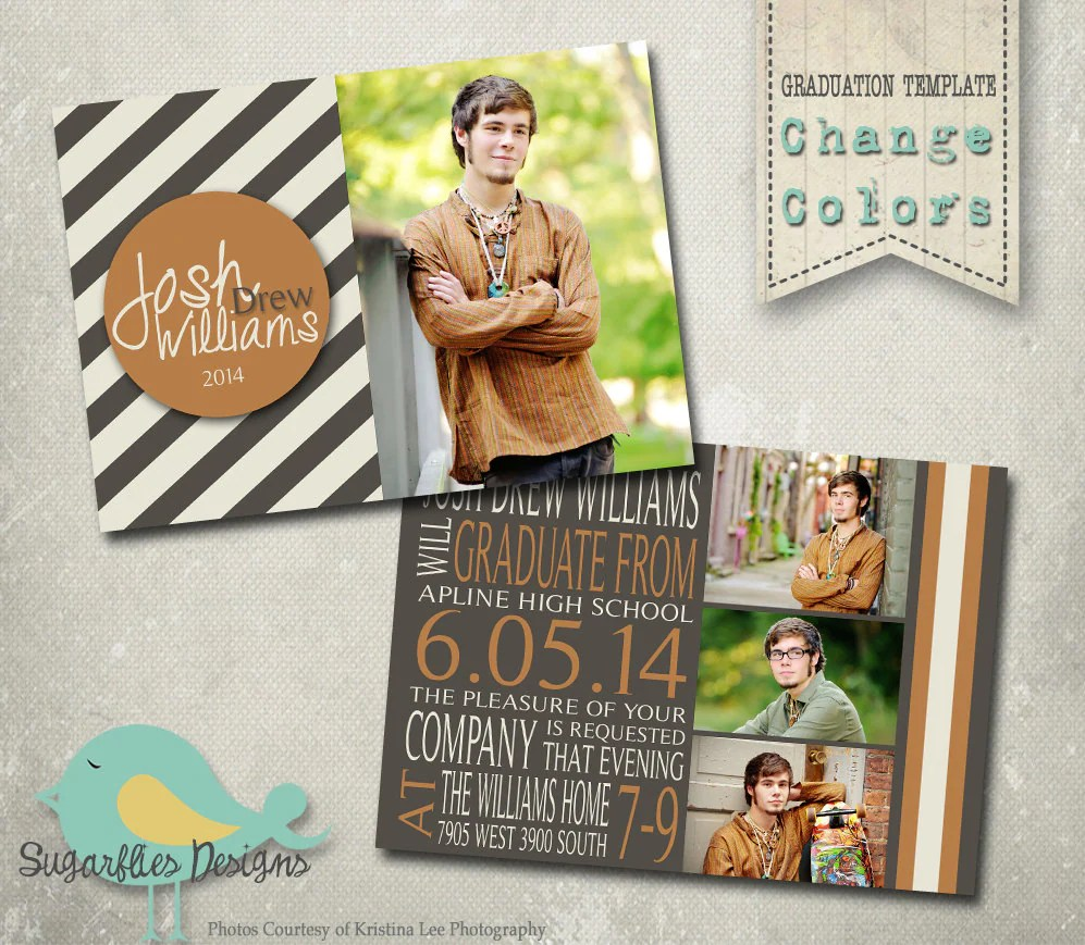 Senior Boy Graduation Announcements