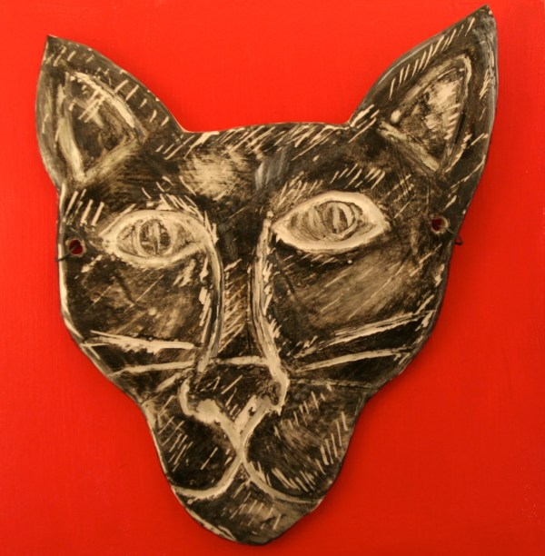Flat Black Cat Mask