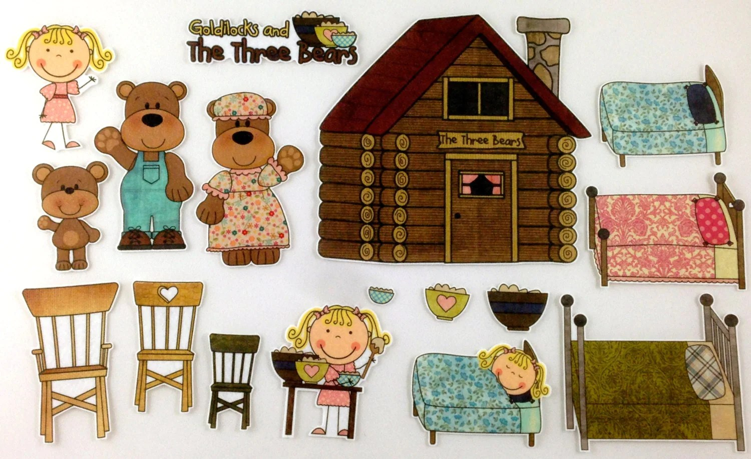 Goldilocks And The Three Bears Felt Board Story Set By Bymaree