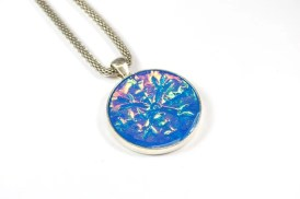 Snowflake Pendant Necklace by Ginger Davis Allman of The Blue Bottle Tree