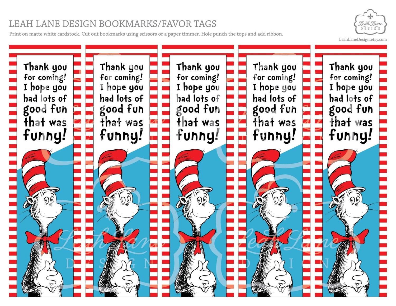 Instant Digital Download Printable Bookmarks Party Favor