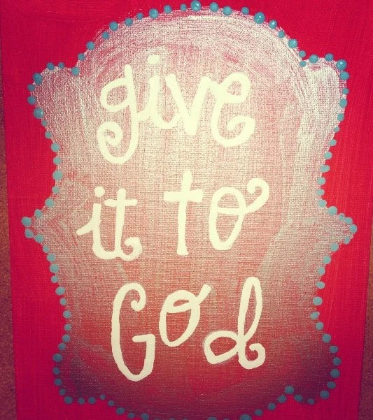 give it to God canvas