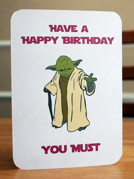 Star Birthday Happy Color Print Wars Cards And