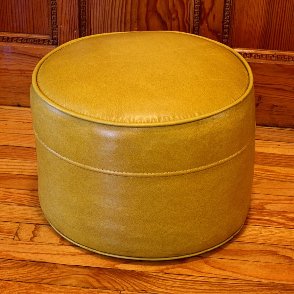 Small Round Upholstered Ottoman
