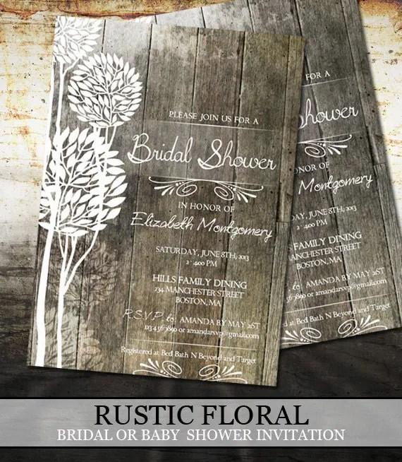 Rustic Bridal Invitations