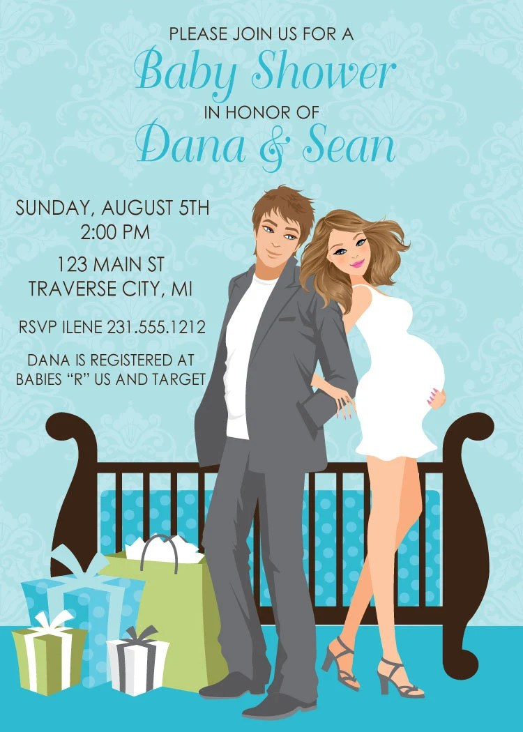 Baby Shower Invitations Couples