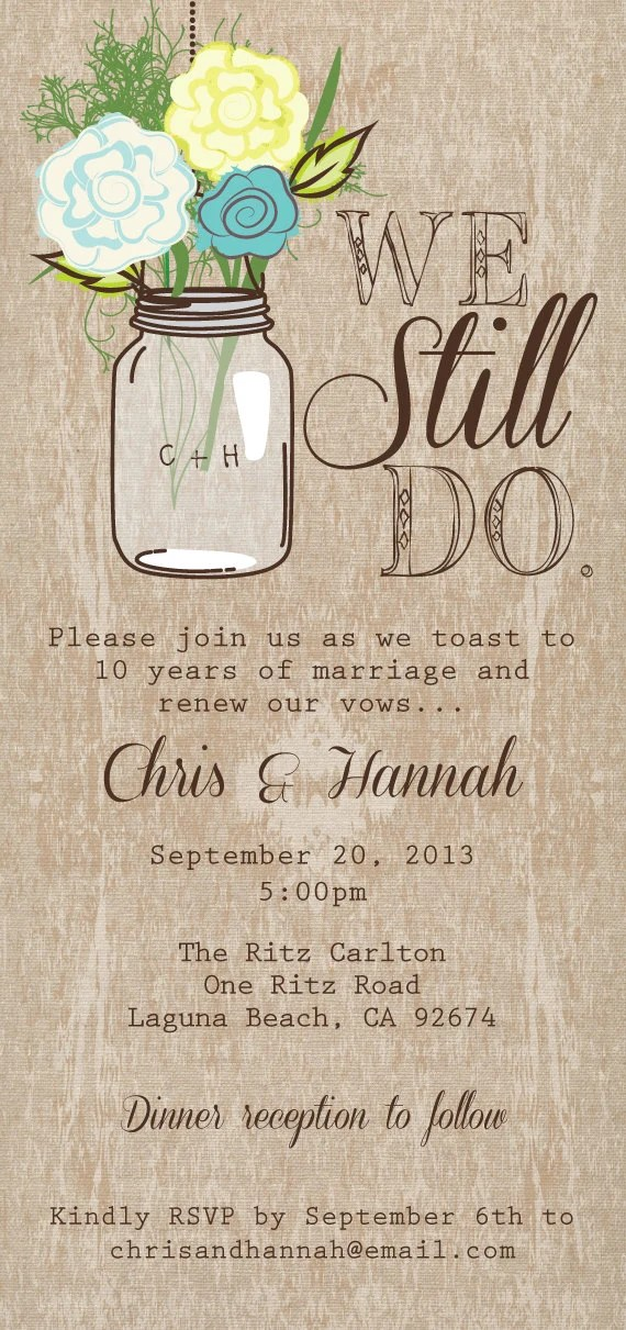 Rustic Post Wedding Reception Invitations