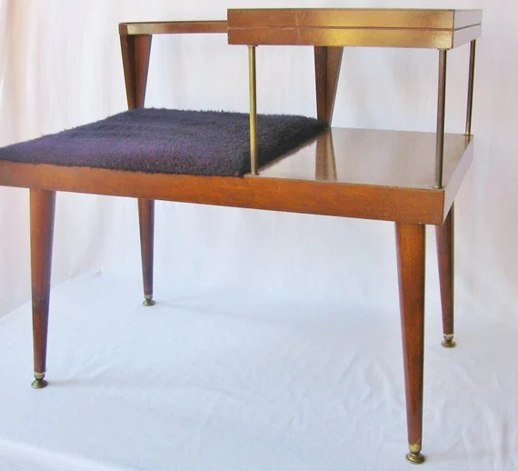 Mid Century Modern Table Telephone Table Bench Danish