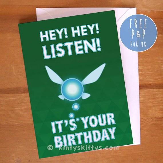 Legend Zelda Happy Birthday Card