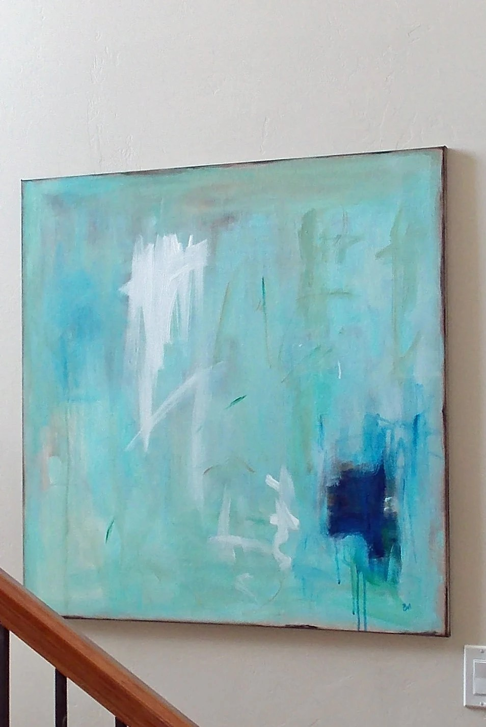 Turquoise Art Wall